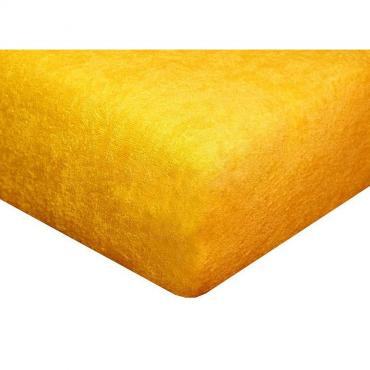 Froté prostěradlo slunečně žluté