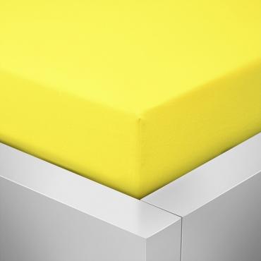 Jersey prostěradlo žluté