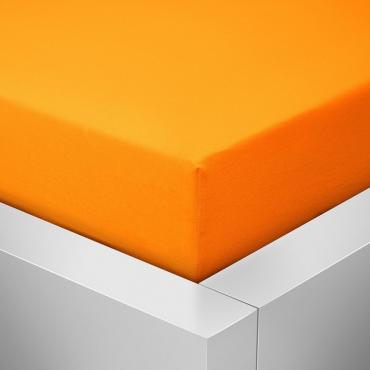 Jersey prostěradlo pomerančově oranžové